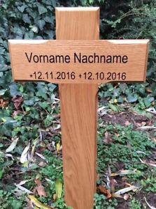 Grabkreuz , Holzkreuz , Straßenkreuz , Incl Beschriftung Nach Wunsch Ca. 81 cm