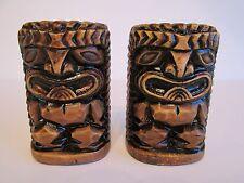 Vintage Ceramic Tiki Salt And Pepper Shakers ~ Japan