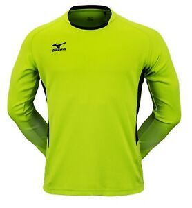 Mizuno Men Lagrang L/S T-Shirts Jersey Training Green Black Top Shirt P2MA7K1137