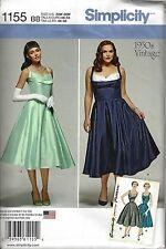 Vintage Retro 50s Rockabilly Dress Simplicity 1155 Pattern 20 22 24 26 28 NEW
