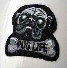 P4 PUG LIFE Dog n Bone Iron on Patch