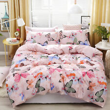 All Size Bed Ultra Soft Quilt Duvet Doona Cover Set Bedding Pillowcase Butterfly