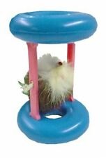 JW Interactive Rolling Wheel Feather Mouse Cat Kitten Toy - Cat Wheels