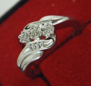 Natural Diamond Cluster Ring Sterling Silver Size 6.5 0.30 Tcw   #4