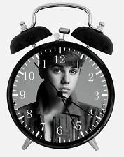 "Justin Bieber Alarm Desk Clock 3.75"" Home or Office Decor Z35 Nice For Gift"