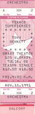Tony Bennett Concert Ticket 1991 Red