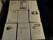 9 Vtg  DuPont American Industries Products Chemicals Ad 1918 1919 1922 Lot  Q139