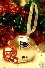 NEW ENGLAND PATRIOTS CHRISTMAS XMAS BELL NFL FOOTBALL HELMET ORNAMENT