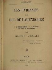 Nouvelles de G. D'HAILLY + LEROYER de CHANTEPIE + VIAL de SABLIGNY + DUPLESSY