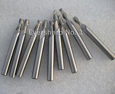 Lot 10pcs 2Flute Hss EndMills Cutting Dia 2.5mm Mills Shank Dia 6mm EndMils Bits