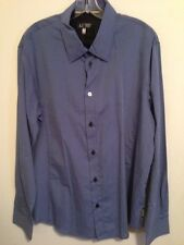ARMANI JEANS BLUE BUTTON FRONT SHIRT US SIZE XXL PURCHASED IN AUSTRALIA