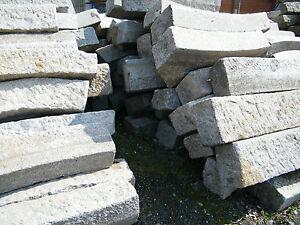 Granitborde, Bordsteine, Rundborde, Randsteine, Treppenstufen