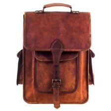 New Large Vintage Hot Genuine Leather Bag Rucksack Backpack Dark Brown