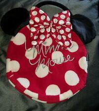 "Disney Minnie Mouse 14"" Soft Pyjama Case / Bag / Pillow Case With Handle VGC"