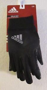 NWT Adidas Mens Shield 3 Running Gloves L/XL Black MSRP$25