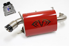 Evolution Powersports Evo Stage 1 ECU Flash Red Magnum Exhaust RZR XP TURBO