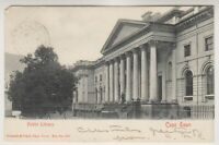 South Africa postcard - Public Library, Cape Town - P/U 1904 (A16)