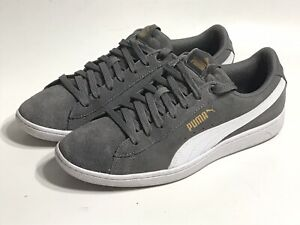 PUMA Women Size 8.5 Ladies Vikky Lace Up Sneakers Suede Shoes Grey