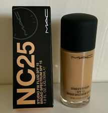 NEW! AUTHENTIC MAC STUDIO FIX FLUID FOUNDATION BROAD SPECTRUM SPF 15 IN NC25