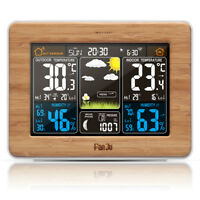 FanJu FJ3365W Wireless Weather Station Color Forecast with Temperature Barometer