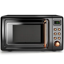 0.7Cu.ft Retro Countertop Microwave Oven 700W LED Display Glass Turntable New