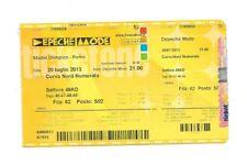 BIGLIETTO USATO CONCERTO DEPECHE MODE 20 LUGLIO 2013 STADIO OLIMPICO ROMA