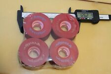 Champs Prestige Red Soft Cruiser 63mm 1980's W1 Vintage Set 4 Skateboard Wheels
