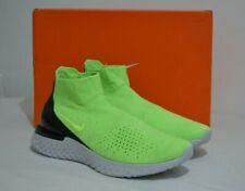 Nike Rise React Flyknit Lime Blast Black Grey Size UK 10 EU 45 RRP £155