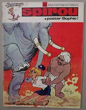 SPIROU n°1755  ***  POSTER SOPHIE ATTACHÉ   ***  DÉCEMBRE 1971