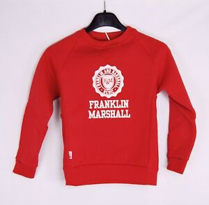 Felpa Bambino FRANKLIN & MARSHALL Made in Italy H321 Rosso Tg  8 anni