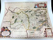 Historische Landkarte Neisse Schlesien Strehlen Tannenberg Kamitz Bielitz 1658