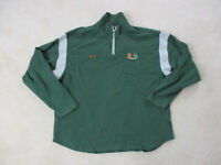 VINTAGE Nike Miami Hurricanes Sweater Adult Large Green Gray UM Football Mens *