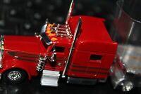 PETERBILT 289 & FLAT BED TRAILER TRUCK SERVICE HO 1/87 built RTR  SHARP PAINT tn