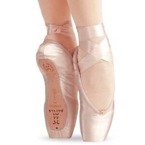 "Sansha ""Lyrica"" 404S Ballet Pointe Shoes, Full Shank, Peach Pink, NEW"
