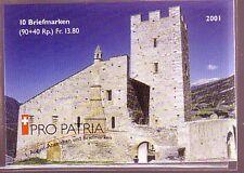 Schweiz Pro Patria 2001 Markenheft Michelnummer 0-121