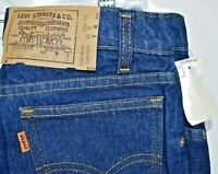 Vintage Deadstock Levis Orange Tab Student Fit 718 Jeans 25x31 Straight Leg NWT