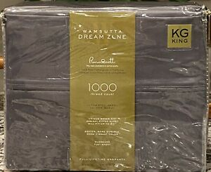 Wamsutta - Dream Zone - 1,000 Thread Count - King Sheet Set - Charcoal - **NEW**