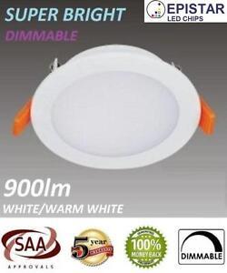 10W LED DOWNLIGHT KIT; 7 YEAR WARRANTY; DIMMABLE 90MM CUTOUT IP54; AU STANDARD