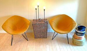 Vintage, Pair of Harry Bertoia, Diamond Chairs for Knoll International; c.1952