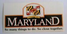 Souvenir-Aufkleber Maryland Annapolis USA Ostküste Atlantik Wappen 80er