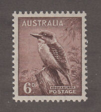Australia - 1937 6 Pence Kookabura. Perf. 13.5 x 14. Sc. #173a, SG#172. Mint