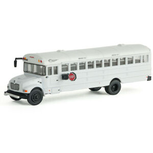 Walthers International(R) MOW Crew Bus White w/ Logo Decals HO Scale