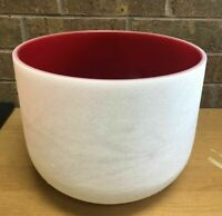 14inch Red Color C note crystal singing bowl Root Chakra with free mallet &Oring