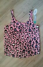 Edc Trägertop NEU Gr. XL rosa Leopardenmuster Sommer Shirt Damen
