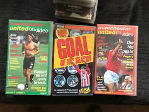 Selection Of Manchester United VHS Video / Football Video Tapes