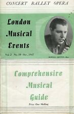 LONDON MUSICAL EVENTS MAGAZINE OCTOBER 1947.
