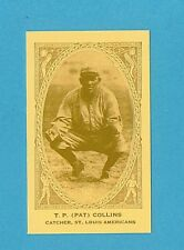 1922 E120 American Caramel Reprint Single T.P. Pat Collins (St. Louis Browns)