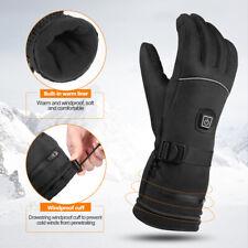 Pair Motorcycle Scooter Electric Heated Gloves Warm Finger Warmer Waterproof AU