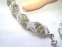 Vintage Coro Silver Tone Rhinestone Necklace Adjustable