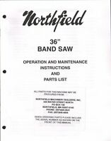 Northfield Uni-Point X36AF X26AFH Manual /& Parts List PDF